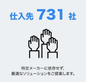 仕入先731社